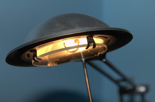 lampička, halogen