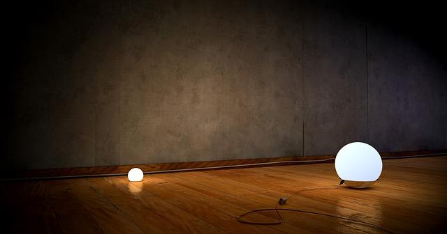 světla na podlaze